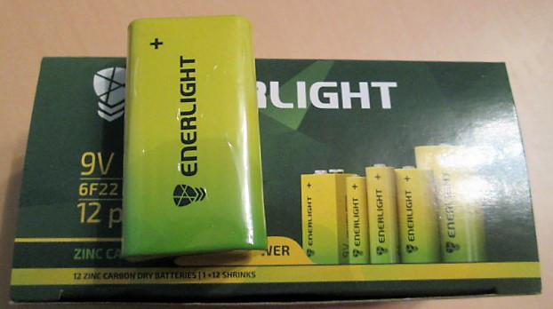 Батарейки ENERLIGHT 9V 6F22 (крона)