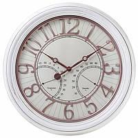 Часы настенные с датчиками температуры и влажности воздуха , 51 см., фото 1