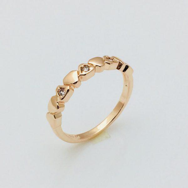 Кольцо Мари, размер 17, 18, 19, 20 позолота 18К Fallon