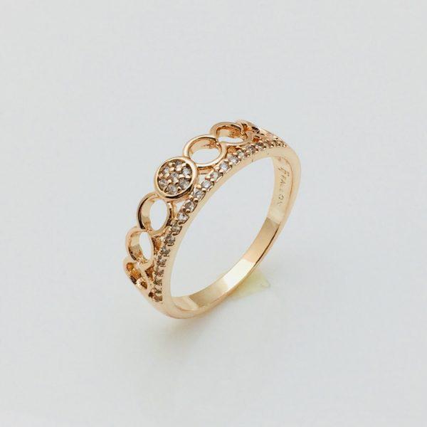 Кольцо коронка Альдонза, размер 18, 19, 20 позолота 18К Fallon