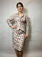 Женский нарядный костюм из жаккарда 54