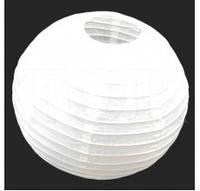 Подвесной бумажный шар плиссе 40 см белый