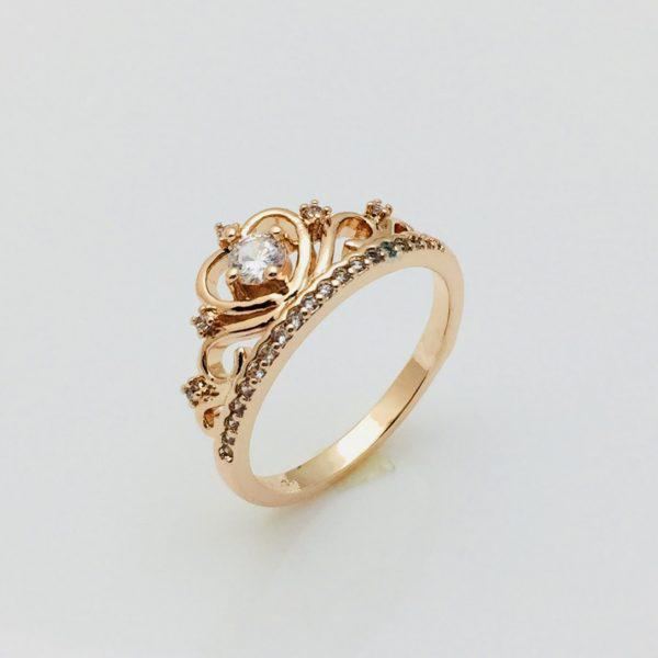 Кольцо коронка Алехандра, размер 20 позолота 18К Fallon
