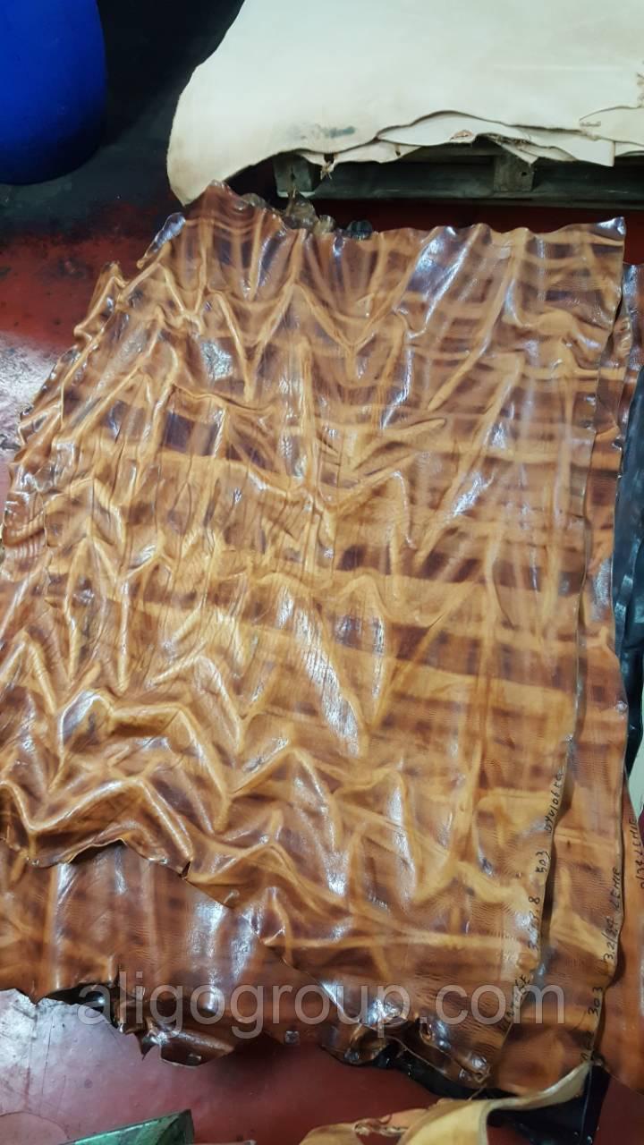 Ворот ременной VINTAGE Vegetale 1 сорт 2,8-3,0 мм Италия синий ДЕНИМ