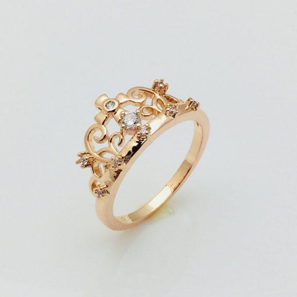 Кольцо коронка Альба, размер 19, 20 позолота 18К Fallon