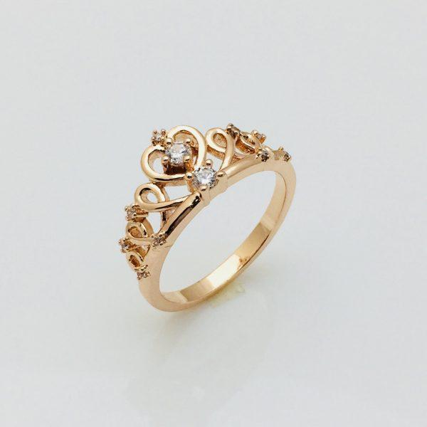Кольцо коронка Алисия, размер 20 позолота 18К Fallon
