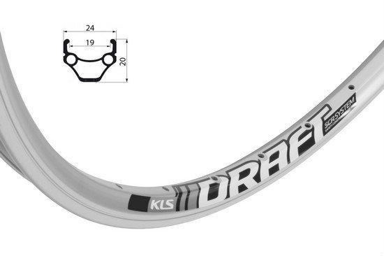 """Обід KLS DRAFT CNC 26"""" 559x19 32h AV сріблястий"""