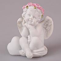 Статуэтка декоративная Lefard Ангелочек с сердцем 7х6х8 см, 598-050