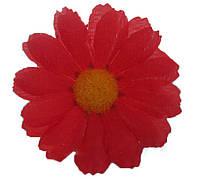"""Искусственные цветочные головки """"Ромашка """" 100 шт. в упаковке, красный (диаметр 65 мм)"""