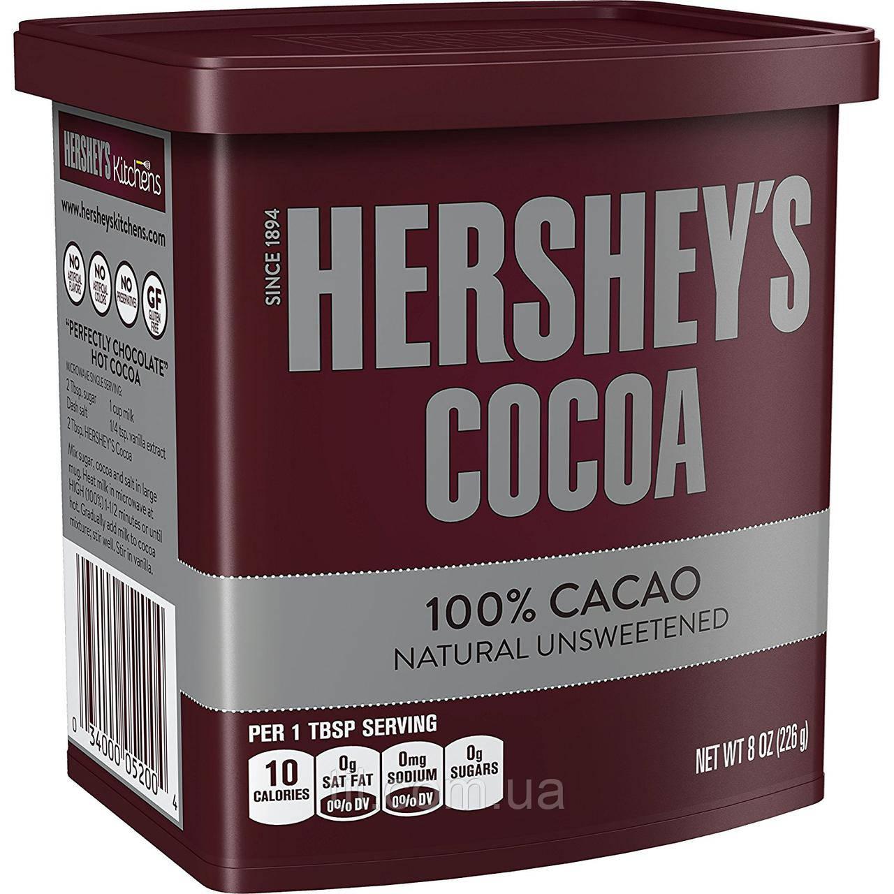 Какао Hershey's 100% 226 грамм