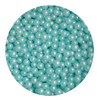 """Посипка """"Перлинні кульки (блакитні) 3 мм."""", 50 гр."""