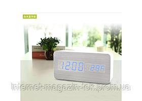 Настольные часы с синей подсветкой VST-862-5