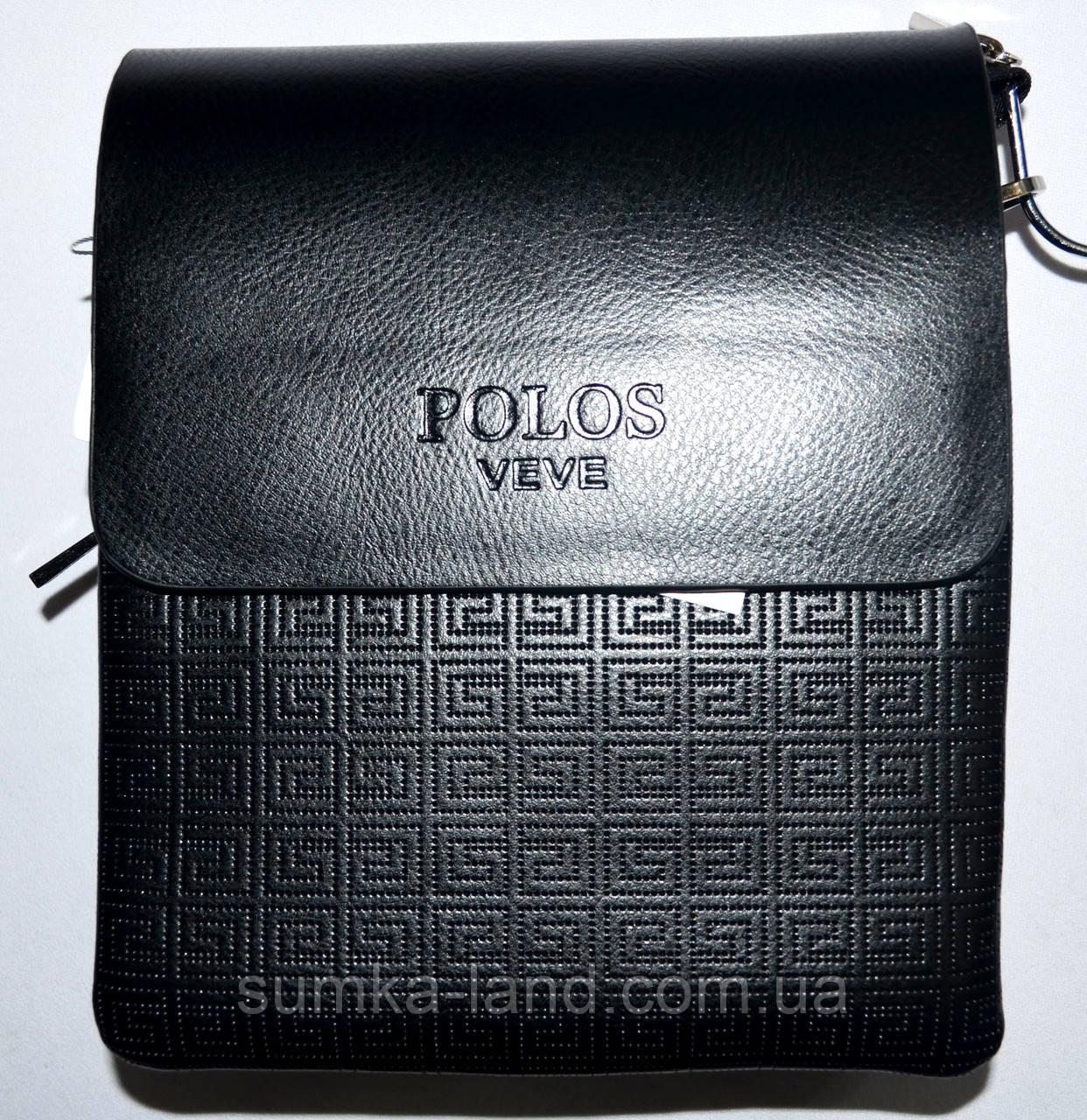 f895e9b6206e Мужская черная кожаная сумка барсетка через плечо 17*21 см: продажа ...