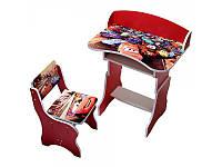 Парта + стул с мультгероями регулируемая 700*460*120