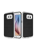 Чехол Motomo slim line для Samsung Galaxy Note 5 серебряный