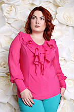 Блуза большого размера Милания  малина