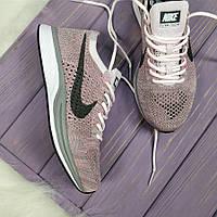 Кроссовки женские Nike Flyknit для фитнеса, материал - текстиль, цвет - сиреневый