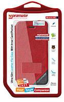 Kожаный чехол-книжка для iPhone 6 Promate Brace-i6