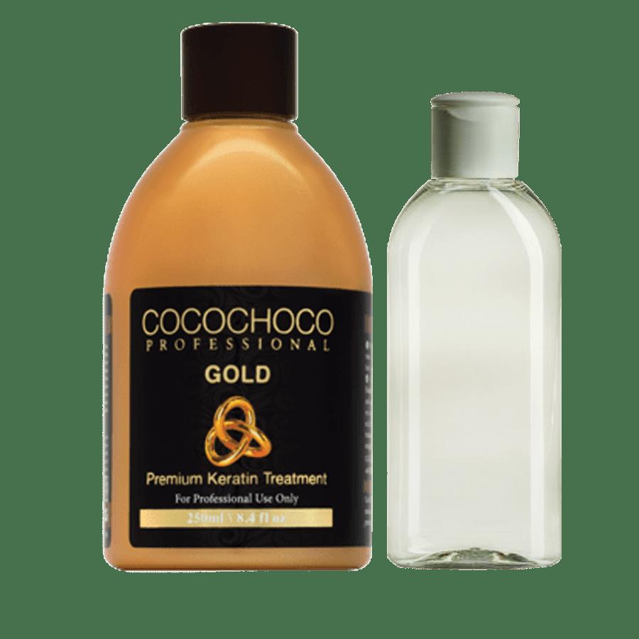 Набор для кератинового выпрямления волос Cocochoco Gold (кератин 250 мл + шампунь 100 мл)