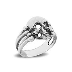 """Серебряное кольцо """"Череп и кости"""""""