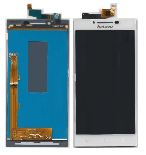 Дисплей (экран) для Lenovo P70 с сенсором (тачскрином) белый Оригинал