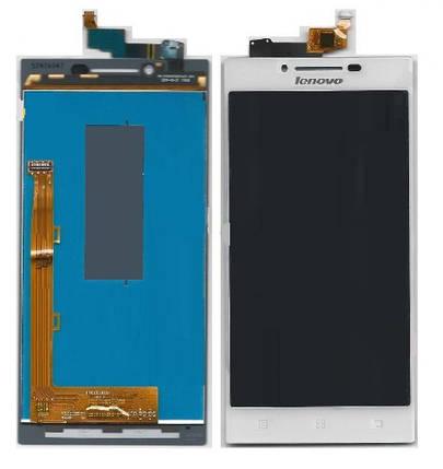 Дисплей (экран) для Lenovo P70 с сенсором (тачскрином) белый Оригинал, фото 2