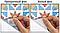 """Вінілова наклейка на кахель у ванну """"Кераміка блакитна"""", фото 3"""