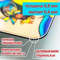 Рекламные магнитики на магнитной основе 0,4 мм