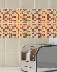 "Вінілова наклейка на кахель ""Мозаїка коричнева"""