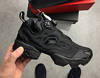 Кроссовки Reebok Insta pump Fury OG Triple Black. Живое фото (пампы)
