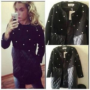 Модное пальто CHANEL с жемчугом