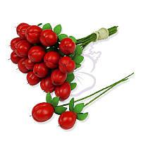 Декоративные ягодки от TM Lana Odis - Гиперикум, цвет красный, размер ягодки до 15 мм, 1 шт