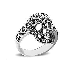 """Серебряное кольцо """"Ажурный череп"""""""