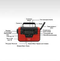 5 в 1: Bluetooth колонка, зарядка для телефона, фонарик, лампа+динамо-машина, солнечная батарея, TF-карта