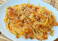 Спагетти с пряной паприкой