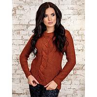 Модный молодежный вязаный свитер 30257 42–46р. в расцветках