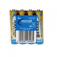 Батарейка щелочная Maxell Alkaline AAA R03 4шт.