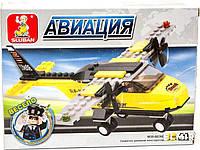 """Конструктор самолет Sluban """"Авиация"""", 110 дет., M38-B0360, 002758, фото 1"""