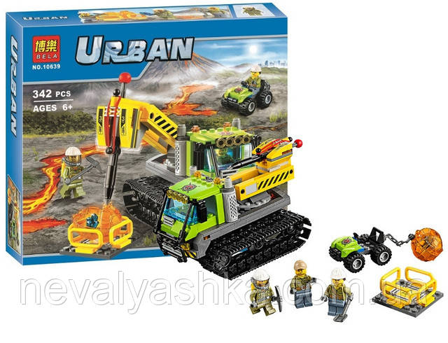 Конструктор BELA Urban Гусеничная машина исследователей вулканов, 342 дет., 10639 (60122), 006525