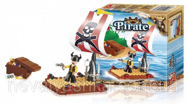 Конструктор SLUBAN Пират на плоту 64 дет., M38-B0277, 006585