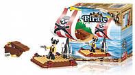 Конструктор SLUBAN Пират на плоту 64 дет., M38-B0277, 006585, фото 1