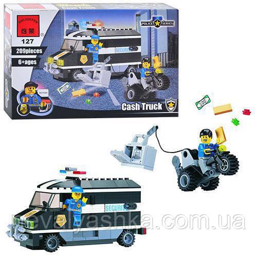Конструктор Brick Enlighten Police Series Полицейская Ограбление Инкассатора, 209 дет., 127, 004429