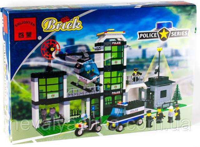Конструктор Brick Enlighten Police Series Полицейский Участок, 430 дет., 110, 002679