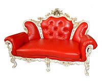 """Кожаный двухместный диван """"Изабелла"""" в стиле барокко (170см)"""