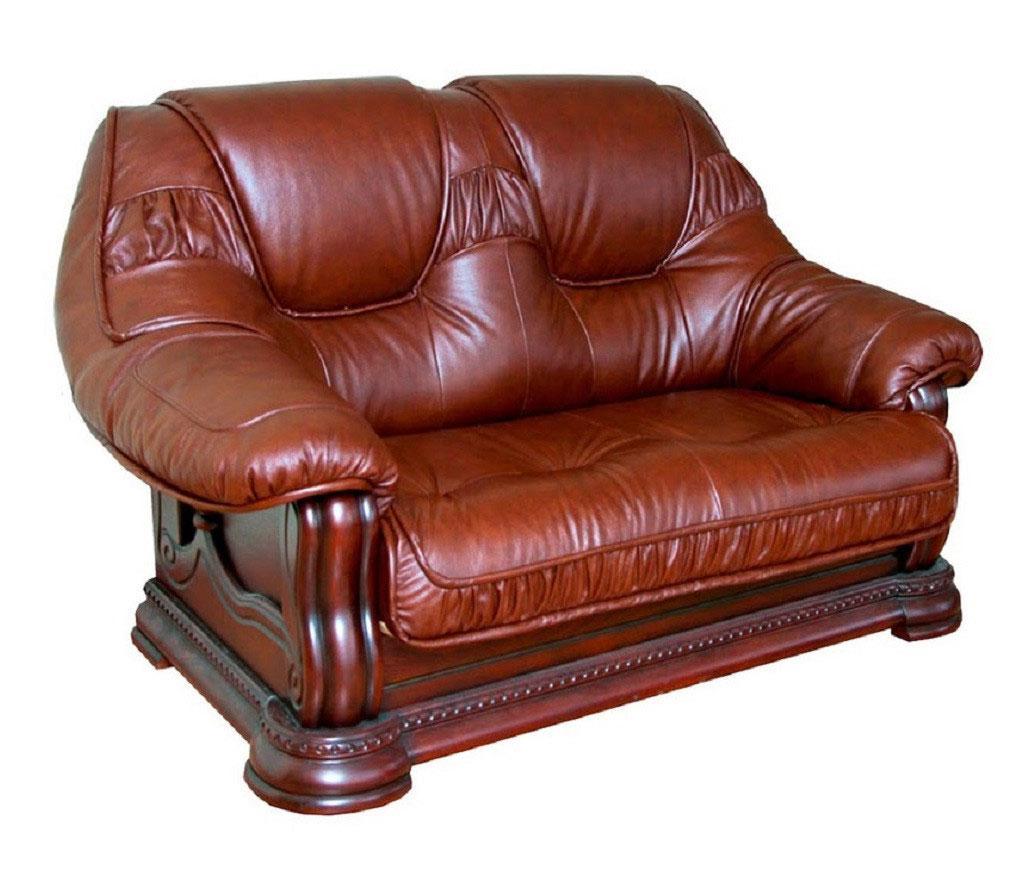 """Классический двухместный кожаный диван """"GRYZLI"""" Hup (190см)"""