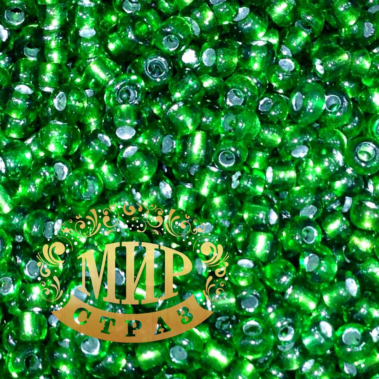 Бисер, цвет Green, размер 2мм, упаковка 30г