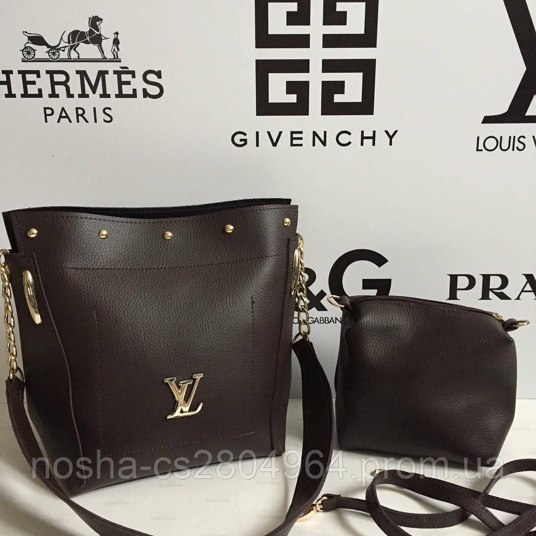 Вместительная сумка 2в1 Louis Vuitton 2в1 с косметичкой - клатчем   Луи  Витон   LV - 6e720dfcf99