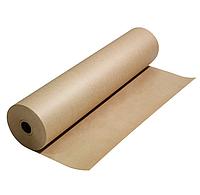 Бурая крафт бумага в рулоне на втулке, 420мм, 80 г/м2