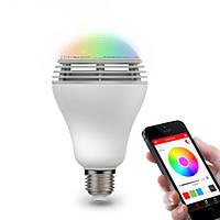 Bluetooth LED лампа с колонкой, управление через смартфон