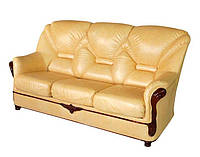 """Прямой раскладной диван в коже """"Орхидея"""" (190см)"""